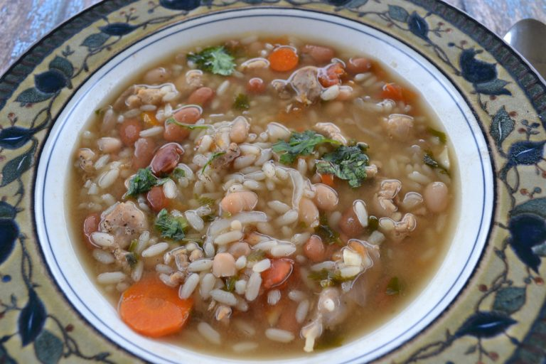 A Healthy Chicken Rice and Bean Soup Your Family Will Love (+ Free Printable Recipe Cards)