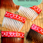 An easy DIY way to make a Valentine Hair Accessory