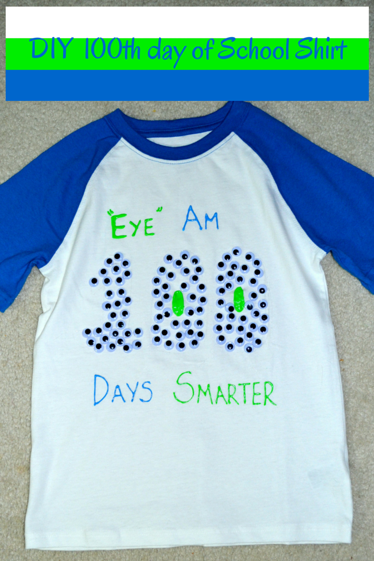 Easy DIY 100th Day Of School Shirt , Mommy Snippets