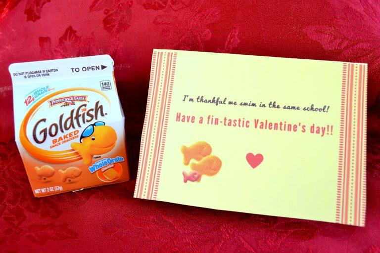 Free Printable Goldfish Valentines for Kids