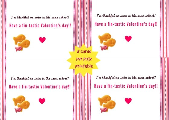 Small Goldfish Valentine's Day Card