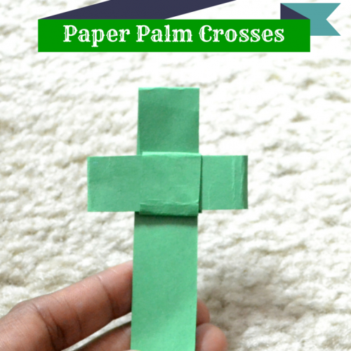 Easy DIY Paper Palm Crosses - An #FCBlogger Craft Tutorial by MommySnippets.com