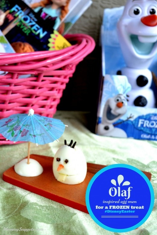 Olaf Inspired Eggmen for a FROZEN inspired treat. {#DisneyEaster}