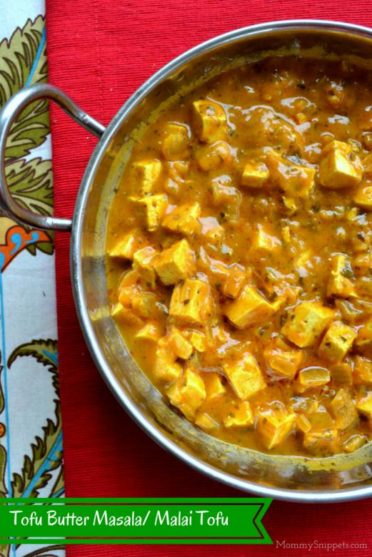 Tofu Butter Masala, Malai Tofu Curry- Mommy Snippets