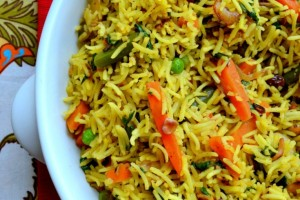Vegetable Pulao/ Pilaf- Mommy Snippets