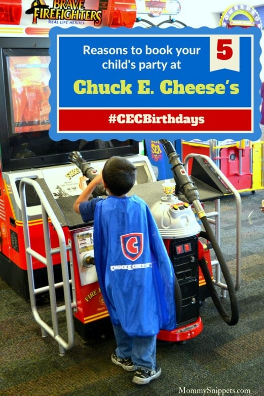 5 reasons to book your child's birthday party at Chuck E. Cheese's- Mommy Snippets