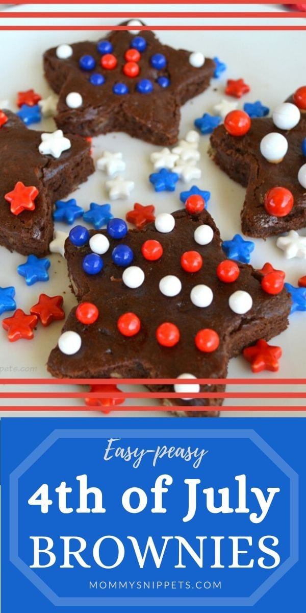 Easy-peasy 4th of July Brownies for your 4th of July Party- MommySnippets.com #4thOfJuly #PatrioticTreats #FourthOfJuly
