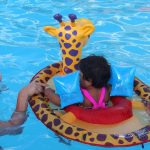 Keeping Baby Girl safe in the pool, with SwimWays {#SwimWays}