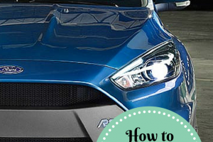 How to clean a car's windshield