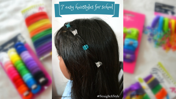 7 easy hairstyles for school with Goody accessories. {#StraightAStyle}-Mommy Snippets