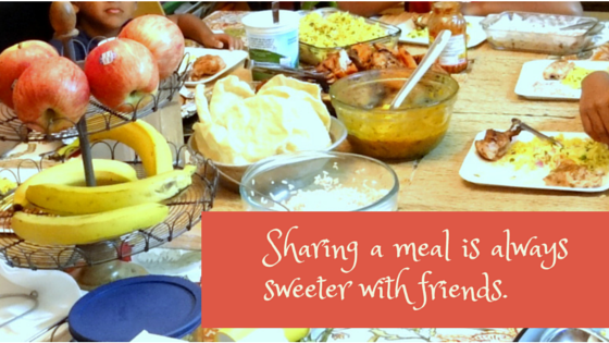 Sharing a meal is always sweeter with friends