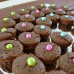 Brownie Bites Rainbow for a Girl Scout Bridging Ceremony