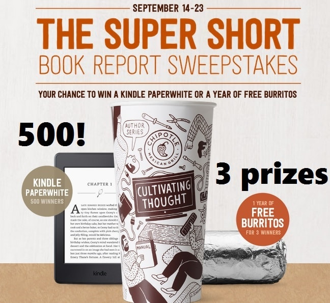 Chipotle-Super-Short-Book-Report-Sweepstakes