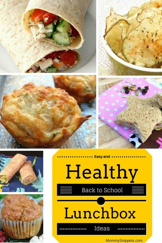 Easy and Healthy Back to School Lunchbox Ideas with MommySnippets.com