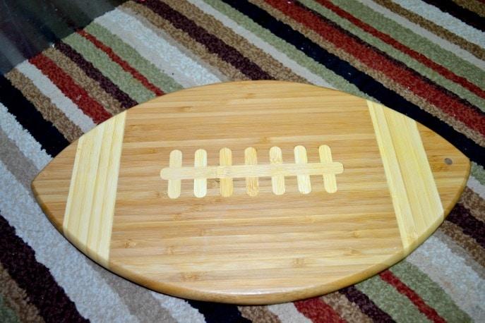 Football bamboo serving tray
