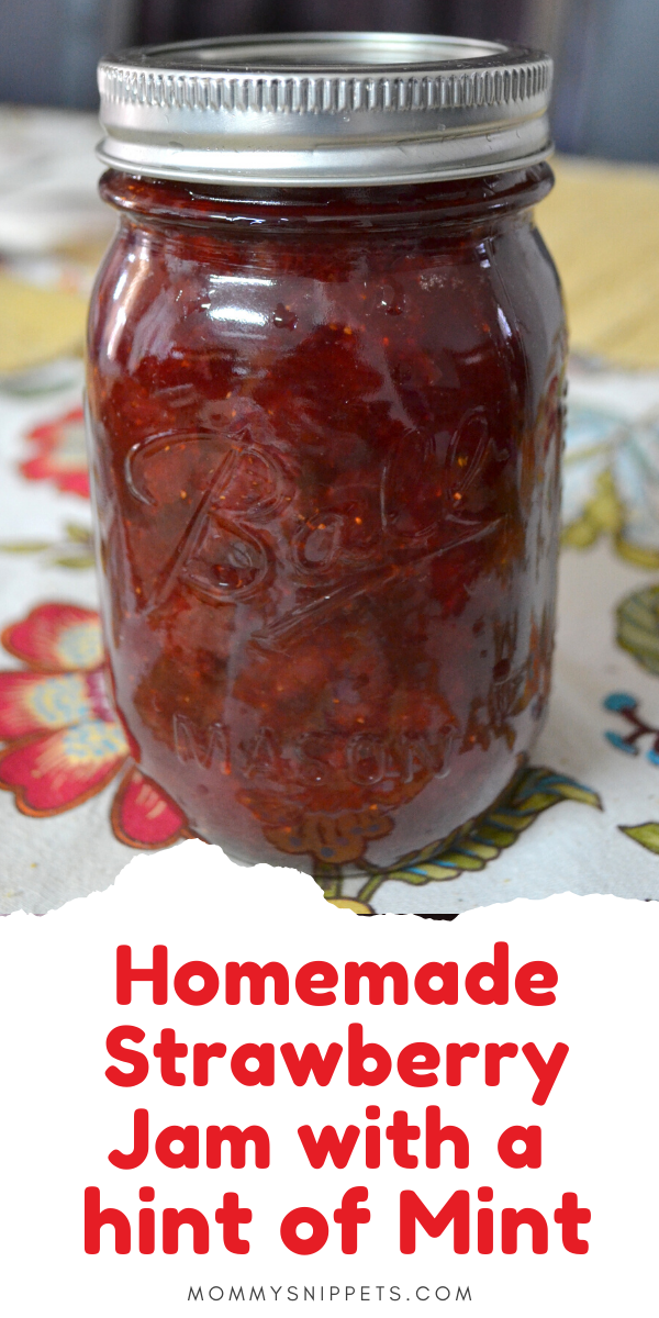 Homemade Strawberry Jam with a Hint of Mint