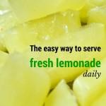 The easy way to serve fresh lemonade daily