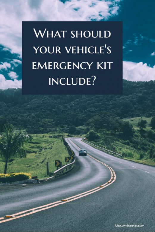 What should your vehicle's emergency kit include-- MommySnippets.com