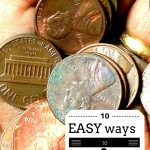 10 easy ways to save money for that rainy day situation!