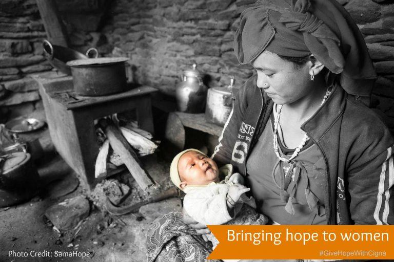 Bringing hope to women {#GiveHopeWithCigna}