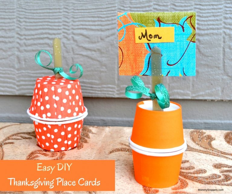 Easy DIY Thanksgiving Place Cards