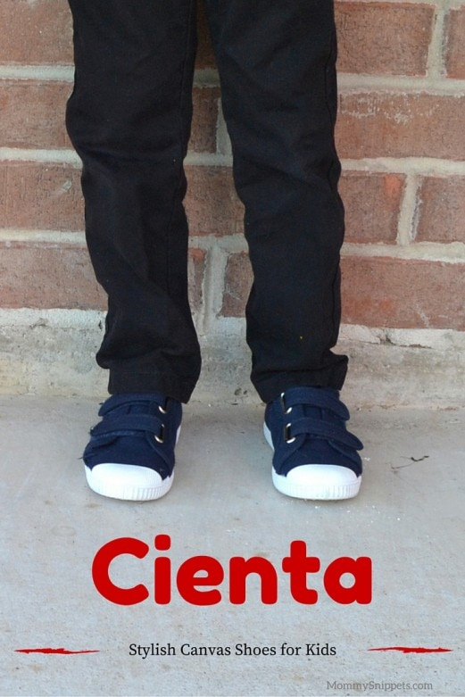 Stylish canvas shoes for kids from Cienta- MommySnippets.com #Ad