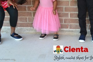 Stylish canvas shoes for kids from Cienta