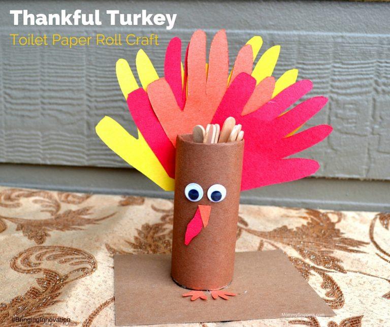 Thankful Turkey Toilet Paper Roll Craft
