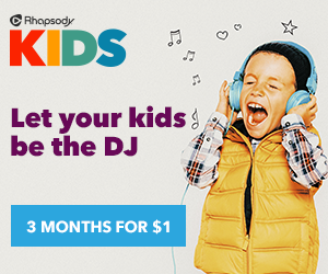 Rhapsody KIDS features songs your kids love {+ $300 #RhapsodyKids Target Gift Card Giveaway}