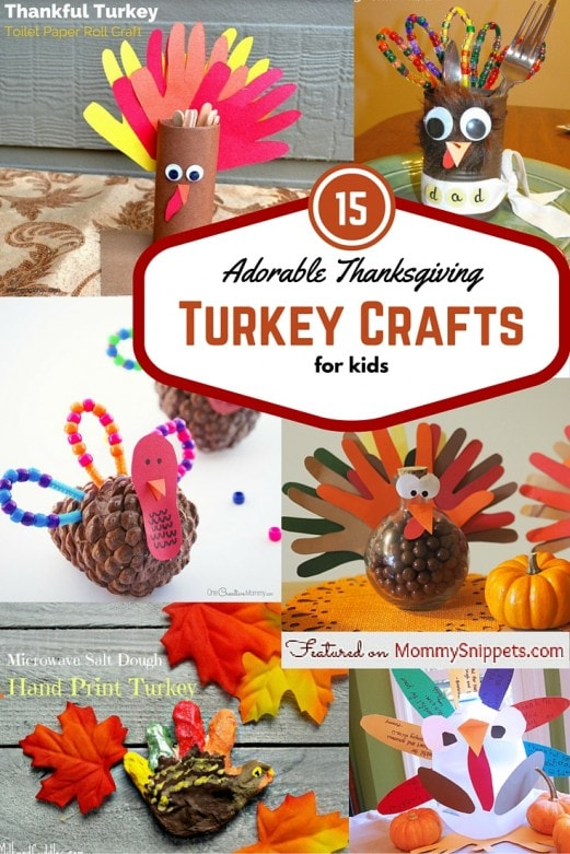 15 Adorable Thanksgiving Turkey Crafts for Kids-Featured on MommySnippets.com