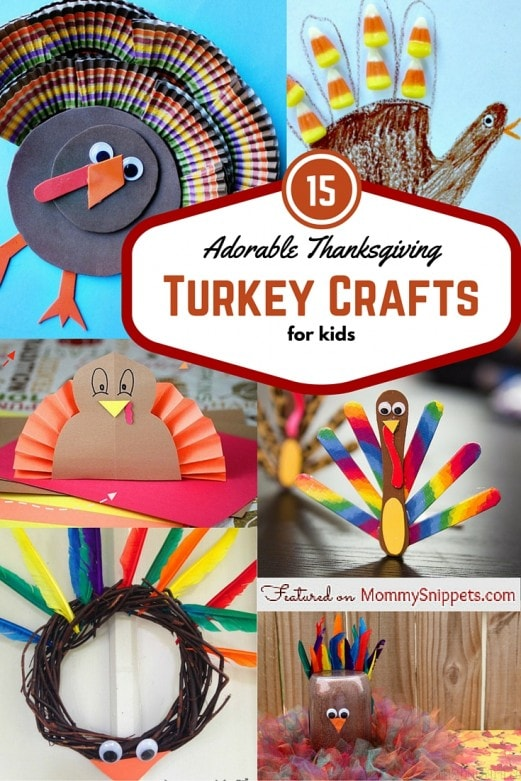 15 Adorable Thanksgiving Turkey Crafts for Kids-Featured on MommySnippets.com (3)