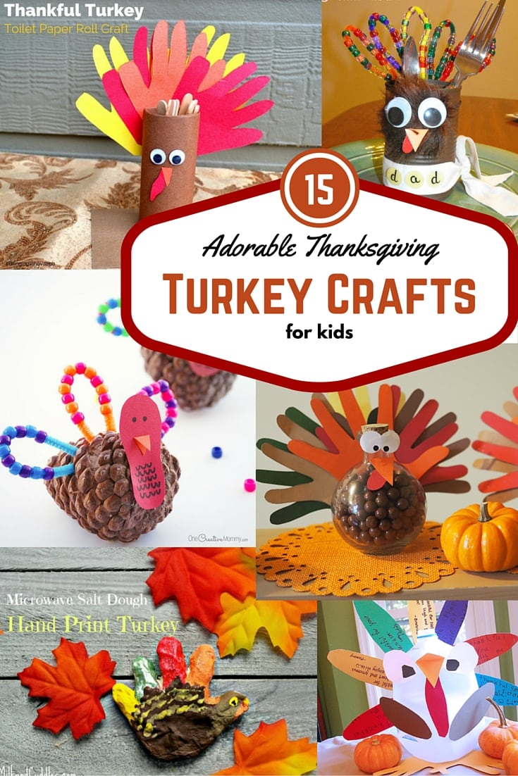 15 Adorable Thanksgiving Turkey Crafts for Kids