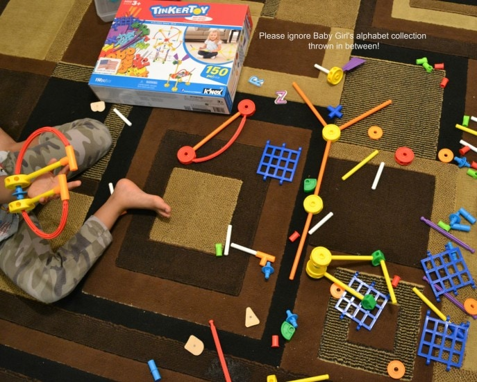 Creativity unleashed with the 150 Piece TINKERTOY Essentials Value Set- As seen on MommySnippets.com [ad] (15)