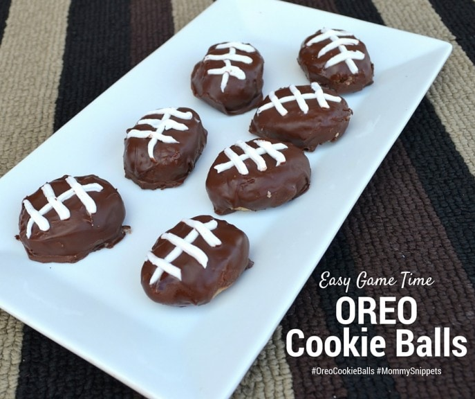 Easy Game Time OREO Cookie Balls #OreoCookieBalls #Sponsored MommySnippets.com