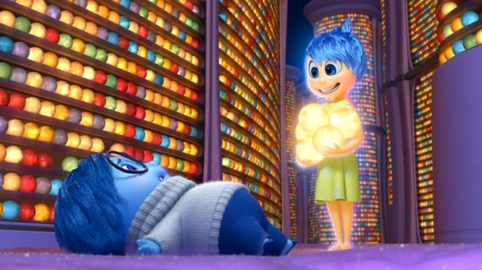 INSIDE OUT - Pictured (L-R): Sadness, Joy. ?2015 Disney?Pixar. All Rights Reserved.