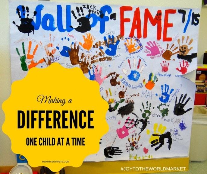 Making a difference...one child at a time #JoyToTheWorldMarket #ShareTheJoy #sponsored