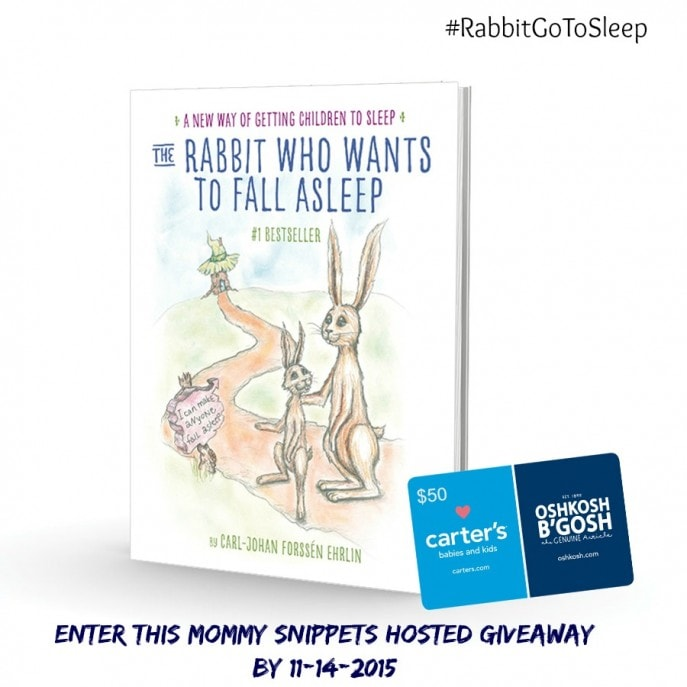 Win The Rabbit Who Wants To Fall Asleep Book + a $50 Carters gift card (Ends 11-14)-MommySnippets