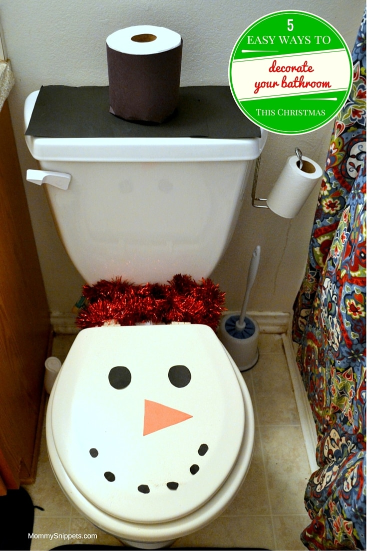 5 easy ways to decorate your bathroom for christmas - How to decorate your bathroom ...