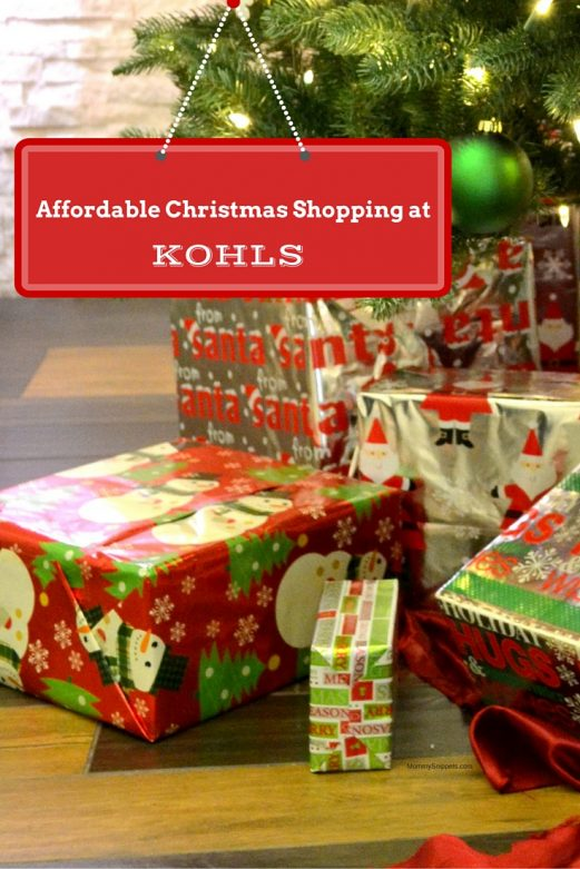 Affordable Christmas Shopping at Kohls with MommySnippets.com