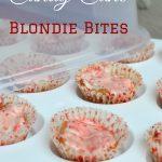 Candy Cane Blondie Bites Recipe {#GobbleAgain #IC }