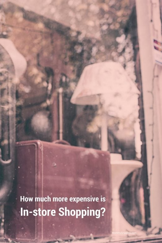 How Much More Expensive is In-Store Shopping-