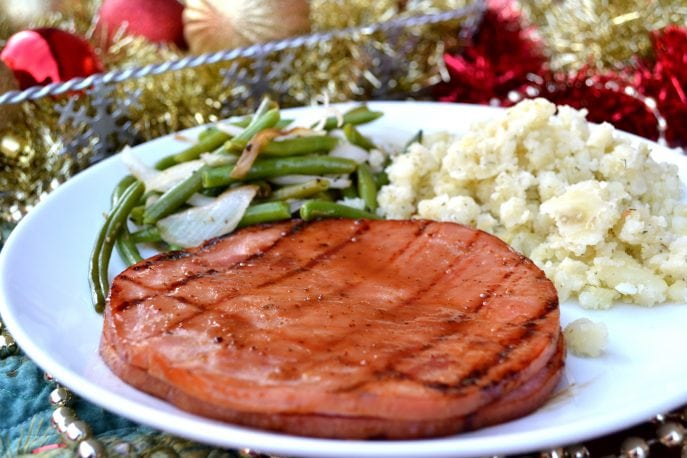 Sliced Ham with Maple Bourbon Glaze- Recipe, Mommy Snippets.com #Sponsored (2)