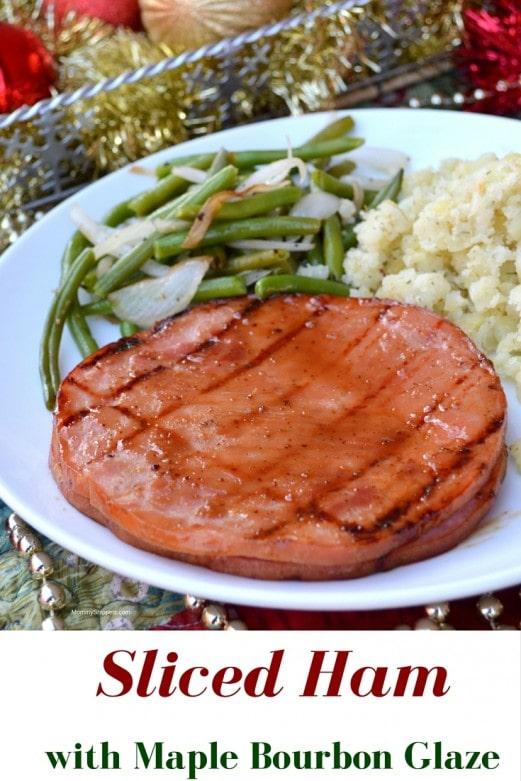 Sliced Ham with Maple Bourbon Glaze- Recipe, Mommy Snippets.com #Sponsored