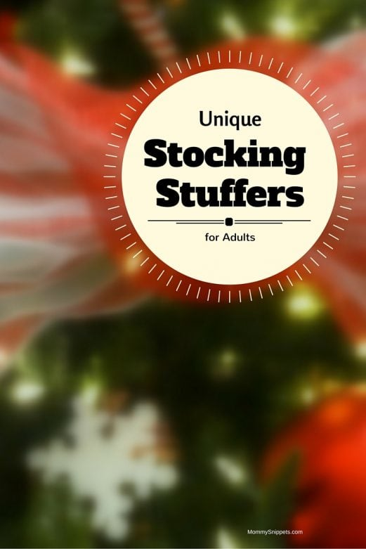 Unique stocking stuffers for adults-Mommy Snippets