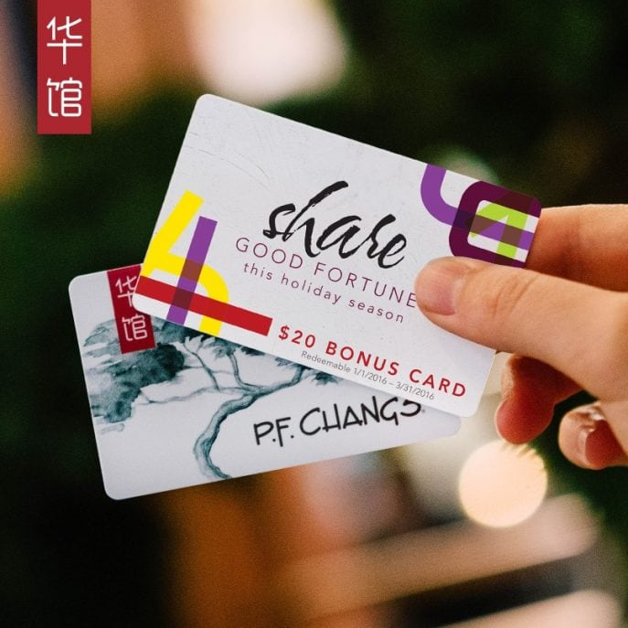 Gift a P.F. Chang's Gift Card and get a FREE gift card for ...