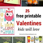 25 free printable Valentines kids will love