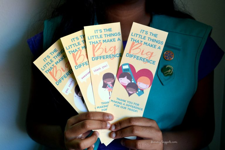 Free Printable Girl Scout Thank You Bookmarks