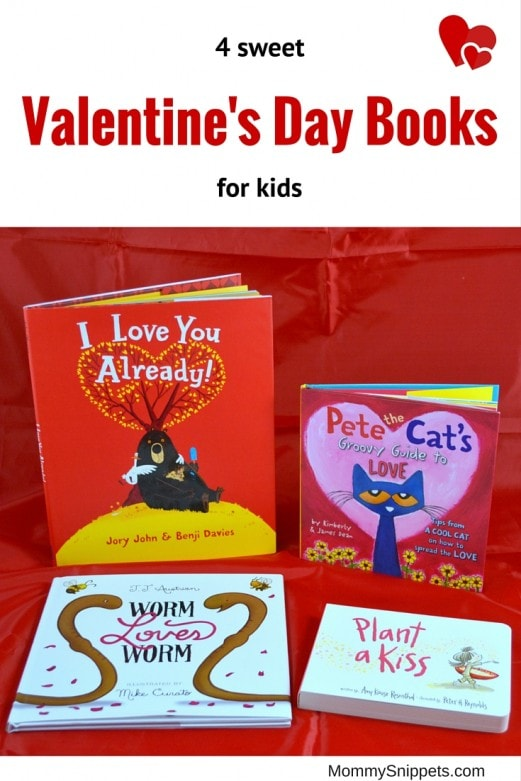 4 sweet Valentine's Day books for kids- MommySnippets.com