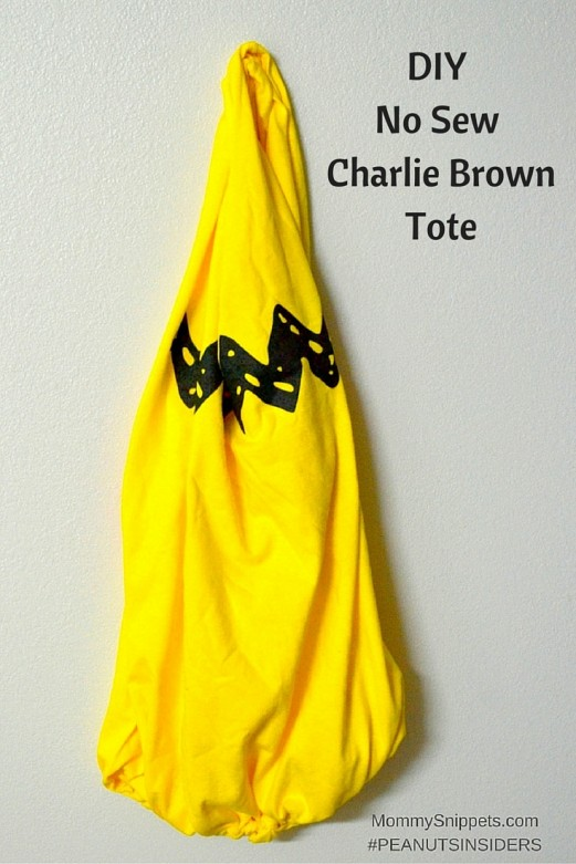 DIY No Sew Charlie Brown Tote- MommySnippets.com