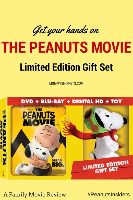 Get your hands on THE PEANUTS MOVIE Limited Edition Gift Set- MommySnippets.com